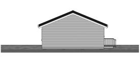 24 x 40 Three Bedroom Cottage Plan - Rear View
