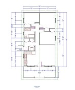 24 x 40 Three Bedroom Cottage Plan