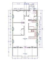 Sheldon Gallant Carpentry 24'x36' Pre Built Cottage - Floor Plan