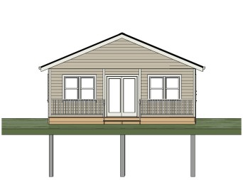 Sheldon Gallant Carpentry - 24'x36' Pre Built Cottage - Front View