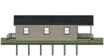 Sheldon Gallant Carpentry - 24'x36' Pre Built Cottage - Side View 2