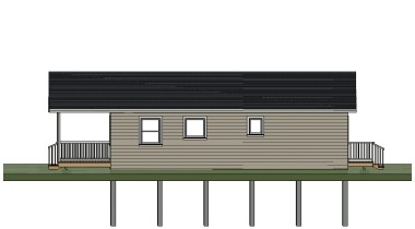 Sheldon Gallant Carpentry - 24'x36' Pre Built Cottage - Side View